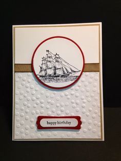 The Open Sea, Masculine Card, Stampin' Up!, Rubber Stamping, Handmade Cards