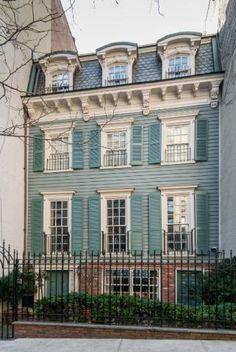 E 93rd Street. New York, NY 1866 Clapboard house