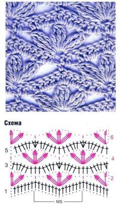 Crochet Stitch - Free Crochet Diagram - (duitang)