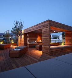 Mucha madera en terrazas