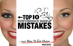 Performance Makeup Mistakes and How to Fix by Jam Cosmetics.