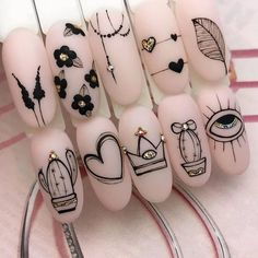 2020 Hottest Nail Design Trend Ideas – Page 70 of 135 – Inspiration Diary - Der Modischste Nagellack Hot Nails, Pink Nails, Hair And Nails, Hot Nail Designs, Nagel Hacks, Nagellack Trends, Best Acrylic Nails, Manicure E Pedicure, Stylish Nails