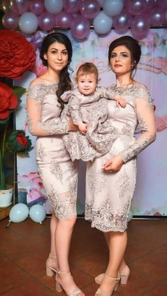 Mommy Daughter Pictures, Mother Daughter Fashion, Mother Daughter Matching Outfits, Mom And Baby Dresses, Mommy And Me Outfits, 1st Birthday Dresses, Dusty Rose Dress, Lace Outfit, I Dress