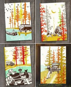 Old School Stationers Camp Getaway Print Collection.