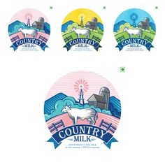 Country Milk Packaging on Behance