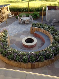 Our Fire pit Garden in Huby, York is coming along!