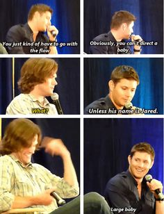 Jensen on what it's like to work with babies