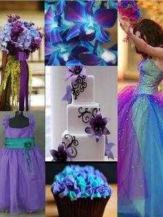 Purple and aqua wedding