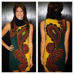 """""""Allie"""" Paisley Sweater Dress! Get it here >> http://www.smalltowngypsy.com/catalog.php?item=2376 Like us on facebook!"""