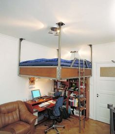 Loft Beds for Adults | Loft beds for small apartment or flats from Compact Living 6 Loft beds ...