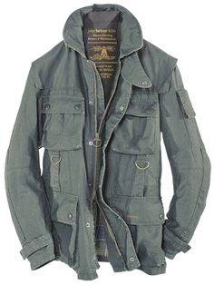 \\ Barbour Army Green Parka