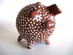 Scandinavian Redware Piggy Bank