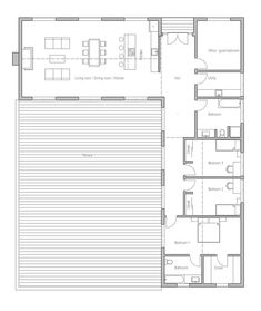 Container House - - Who Else Wants Simple Step-By-Step Plans To Design And Build A Container Home From Scratch? Modern House Plans, Small House Plans, House Floor Plans, Building A Container Home, Container House Plans, Container Homes, Small House Design, Modern House Design, L Shaped House Plans