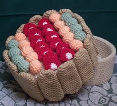 Ladyfinger Fruit Treasure Cake PDF Crochet by FourBeesDesigns, $4.95