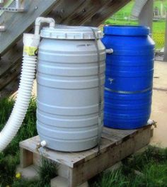 Last spring, I finally asked my friend, Bob, who does handyman work, to help build some rain barrels. I had actually acquired two food grade 55 gallon drum | Survival Life
