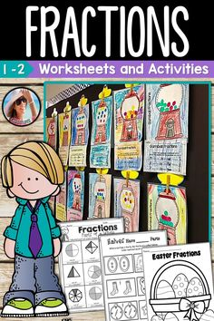 Fractions Worksheets and Activities - Fractions can be super fun to teach with a great product. This product is packed with meaningful practice that will help your students become FRACTION Experts! Parts of a Whole, Parts of a Group / Set.  Kids have so much fun learning with great activities that are low prep for teachers.  You need this in your classroom! Teaching Fractions, Fractions Worksheets, Math Fractions, Teaching Math, Teaching Ideas, Fraction Activities, Fun Math Activities, Math Resources, Homeschool Kindergarten