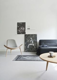 Minimalism in neutral colors but with patterns and wall art