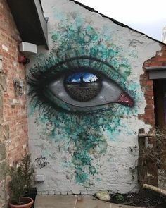 Eyes that reflect the world in the My Dog street art Sig … – Graffiti World 3d Street Art, Murals Street Art, Urban Street Art, Amazing Street Art, Street Art Graffiti, Street Artists, Urban Art, Graffiti Artwork, Graffiti Room