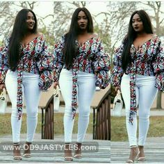 Ankara tops for ladies is a classic outfit to make your figure look just great! African Blouses, African Tops, African Dresses For Women, African Print Dresses, African Attire, African Wear, African Fashion Dresses, African Women, African Prints