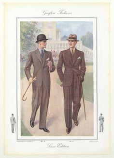 Menswear 1930s-English, Plate 007 :: Costume Institute Fashion Plates