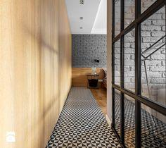 Mieszkanie z czerwonym akcentem - Hol / przedpokój, styl industrialny - zdjęcie od SAS Wnętrza i Kuchnie hallway   modern   mosaic   narrow