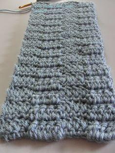 My Crochet , Mis Tejidos: Ripple Jacquard Stitch / Punto Cheuron Quebradizo