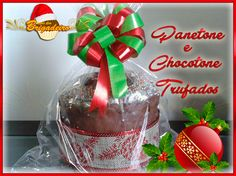Panettone e Chocottone Trufados e com cobertura de chocolate meio amargo. Natal com sabor e qualidade é no Todo dia Brigadeiro.