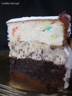 Brownie, cookie dough and funfetti cake!!! what more could i ask for!!!!!!