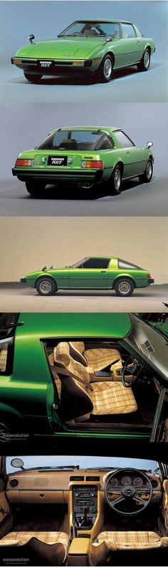 1978 Mazda RX-7 / 105-115hp / Rotary / Japan / green / SA/FB