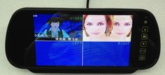 7-inch car monitor car rearview mirror  / 4 split four screen video monitor / Panoramic parking system / car security system