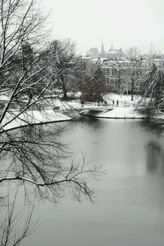 Winter in Leiden, the Netherlands