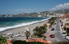 Almuñecar, San Cristobal Beach, Granada Spain