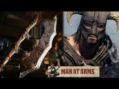 Forging A Real-Life Version of #Skyrim's Orcish Battleaxe [Man At Arms]