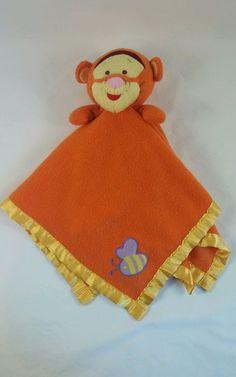 #Disney Tigger Fleece Security Blanket Lovey Baby Blanket Purple Bee Winnie  from $14.99