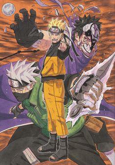 Masashi Kishimoto, Naruto, Naruto Uzumaki, Obito Uchiha, Kakashi Hatake