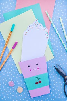 Birthday Party Invitations – Kawaii Party Tinker - Kids' Crafts for Diy and Crafts Diy Birthday Invitations, Surprise Party Invitations, Birthday Cards, Birthday Gifts, Birthday Parties, Birthday Quotes, Birthday Ideas, Diy For Kids, Crafts For Kids
