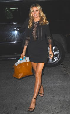 Heidi Klum from The Big Picture: Today's Hot Pics  LBD! The stylish model is seenwalking in the Soho neighborhood of NYC.