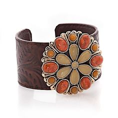 Studio Barse Orange Sponge Coral and Quartz Cuff, I would of bought this if it was silver
