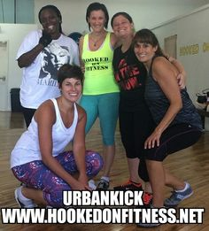 Let's hear it for the UrbanKick Crew that didn't let a little Holiday like Labor Day keep them from getting their Kick on this morning at #HookedOnFitness! Another shot from #HookedOnFitness