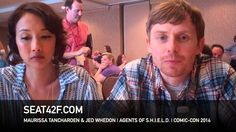 Maurissa Tancharoen & Jed Whedon AGENTS OF SHIELD Interview San Diego Comic Con 2014  - Seat42F