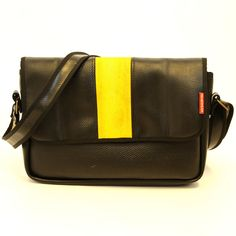 Upcycled laptop bag ecofriendly and made out of by HoseWear, $129.00