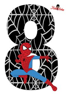 Alfabeto de Spiderman con Fondo Negro. Imprimibles Halloween, Pin Up Drawings, Black Spiderman, Party Props, Alphabet And Numbers, Baby Scrapbook, Cartoon Pics, Floral Illustrations, Man Birthday