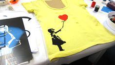 Para fazer: como estampar camiseta com stencil