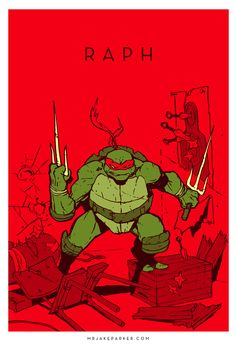 Teenage Mutant Ninja Turtles - Raphael by Jake Parker *