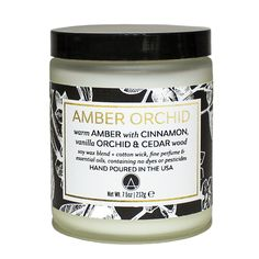 Amber Orchid Scented Soy Jar Candles