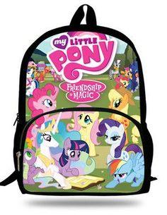 16-Inch Girls Cartoon Back Packs School Bags My Little Pony Backpacks For  Teenage Girls Fashion Bag 2015 For Children Kids Boys d1e8aeac4c607