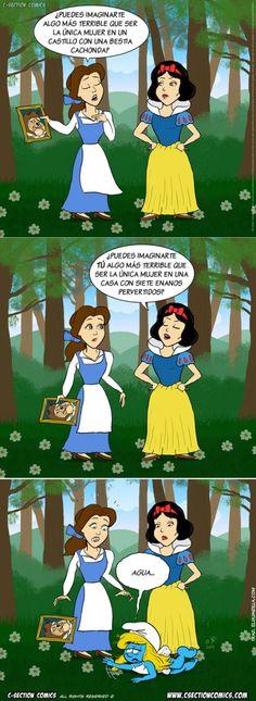 La vida de las princesas Disney :O