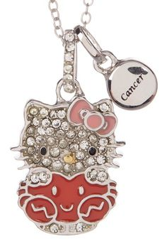 ea46c285f Hello Kitty | Hello Kitty Zodiac Sterling Silver Pave Crystal Enamel Cancer Pendant  Necklace | Nordstrom Rack