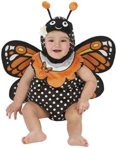 Take a look at this Orange Monarch Butterfly Dress-Up Romper - Infant by Just Pretend Kids on today! Monarch Butterfly Costume, Butterfly Dress, Butterfly Party, Halloween Meninas, Halloween Costumes Online, Halloween Town, Halloween Crafts, Halloween Ideas, Toddler Girl Halloween