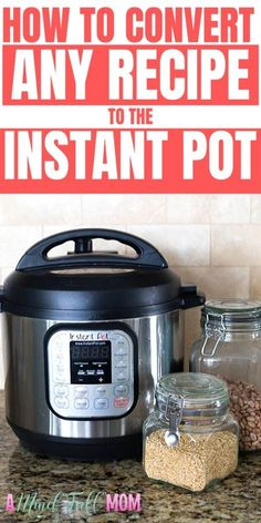 instant pot recipes Are you trying to figure out how to make your favorite recipes in the Instant Pot? This guide will show you how to adapt MOST recipes for the Instant Pot. Power Pressure Cooker, Instant Pot Pressure Cooker, Pressure Cooker Recipes, Slow Cooker, Pressure Pot, Rice Cooker, Best Instant Pot Recipe, Instant Pot Dinner Recipes, Instant Recipes